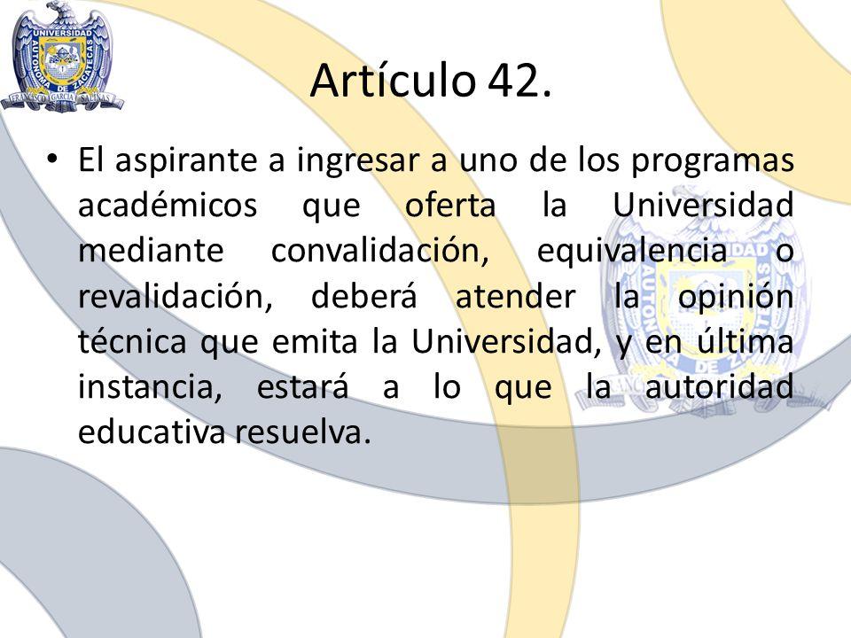 Artículo 42.