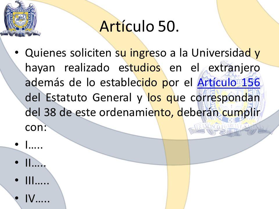 Artículo 50.