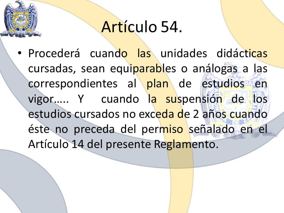Artículo 54.