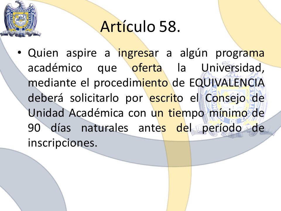 Artículo 58.