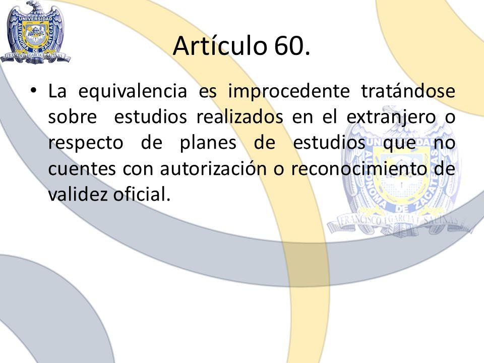 Artículo 60.