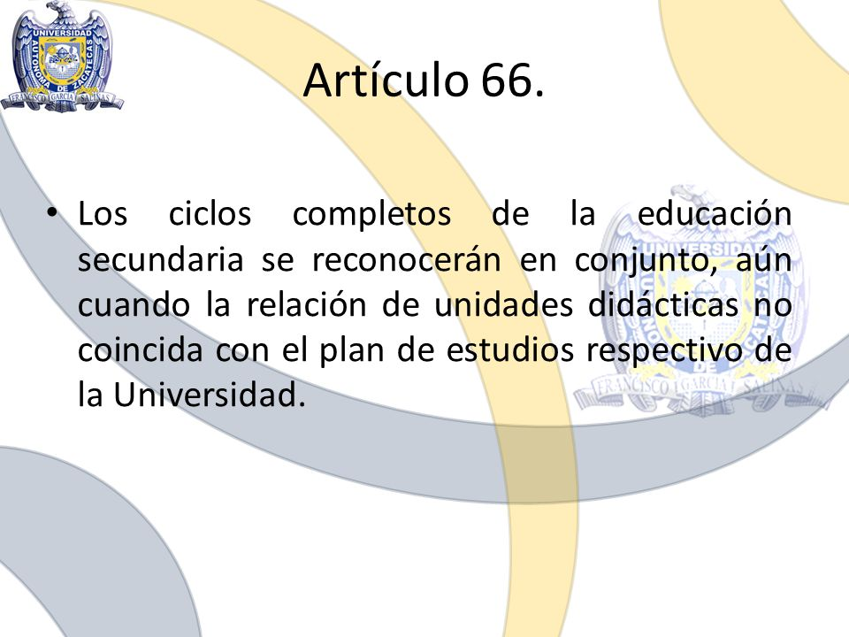 Artículo 66.