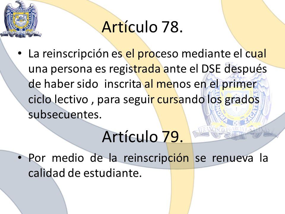 Artículo 78.