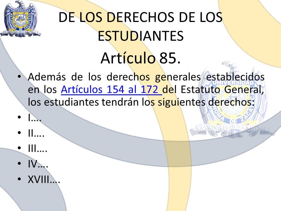 DE LOS DERECHOS DE LOS ESTUDIANTES