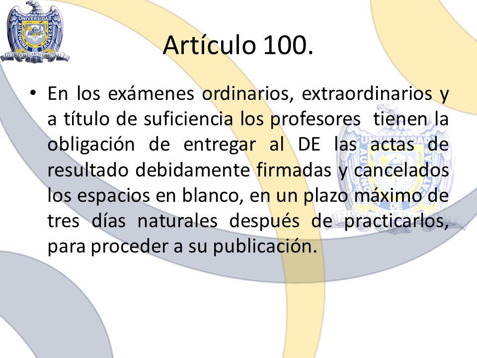 Artículo 100.