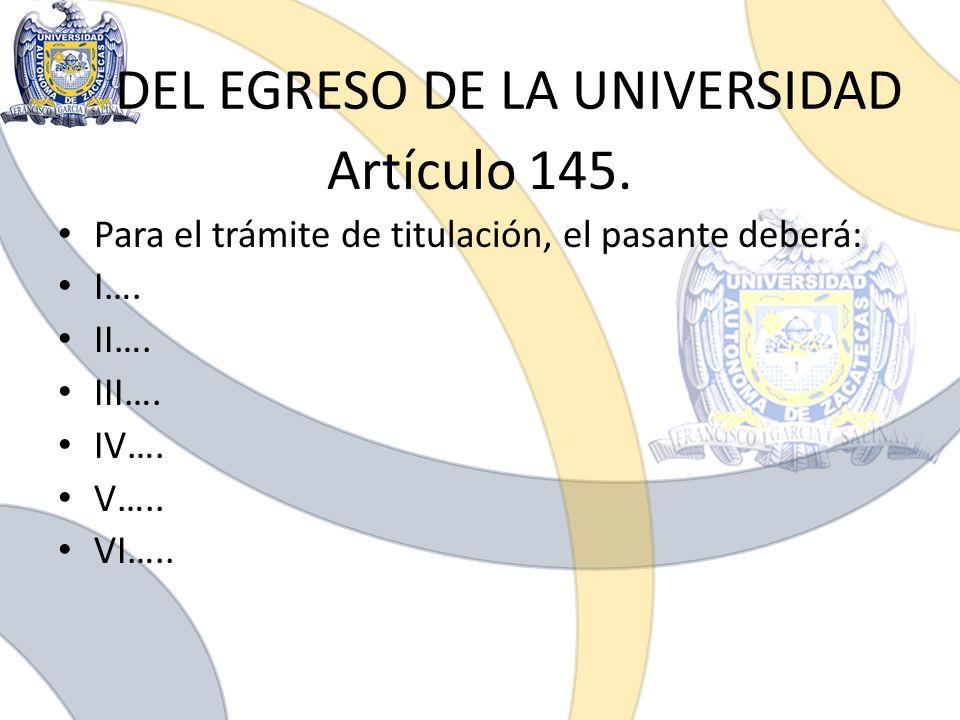 DEL EGRESO DE LA UNIVERSIDAD