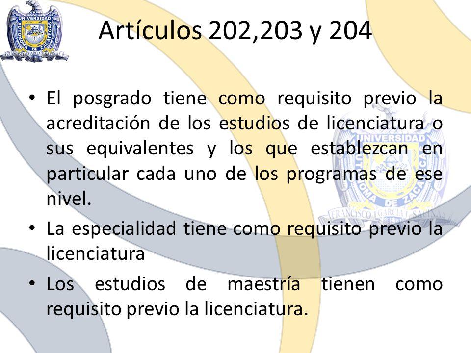 Artículos 202,203 y 204