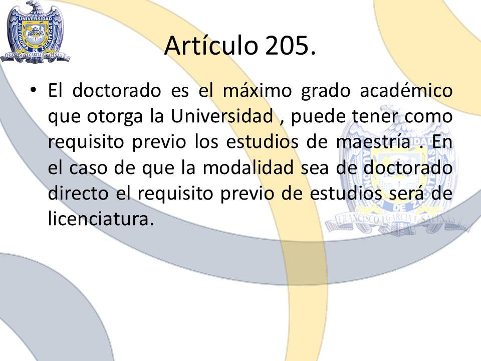 Artículo 205.