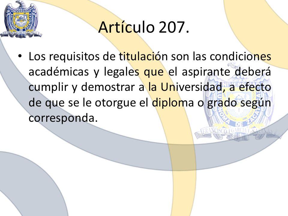 Artículo 207.