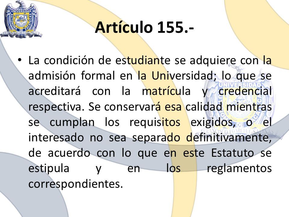 Artículo 155.-