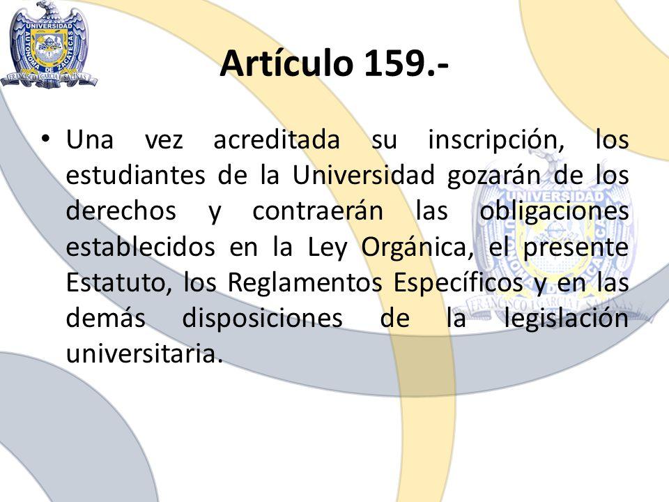 Artículo 159.-