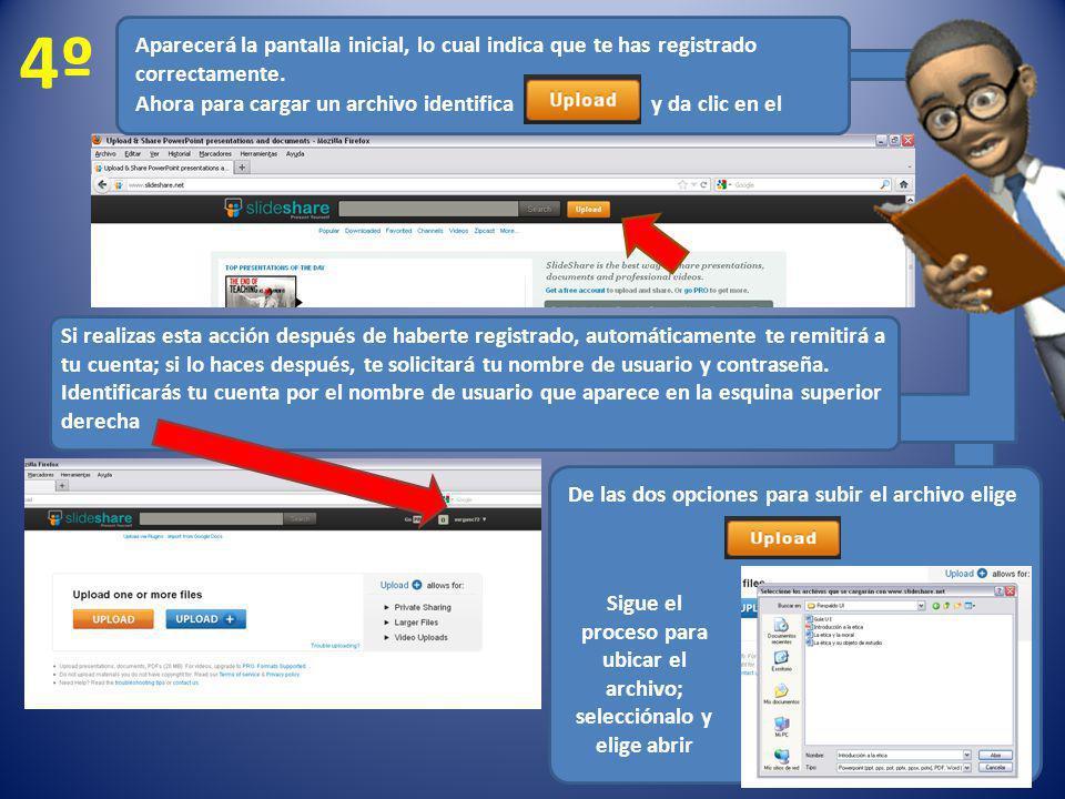 Sigue el proceso para ubicar el archivo; selecciónalo y elige abrir
