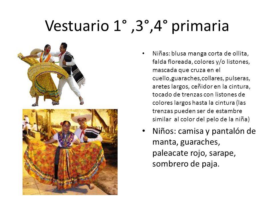 Vestuario 1° ,3°,4° primaria