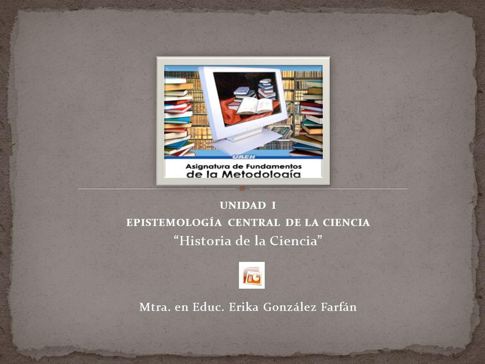 EPISTEMOLOGÍA CENTRAL DE LA CIENCIA