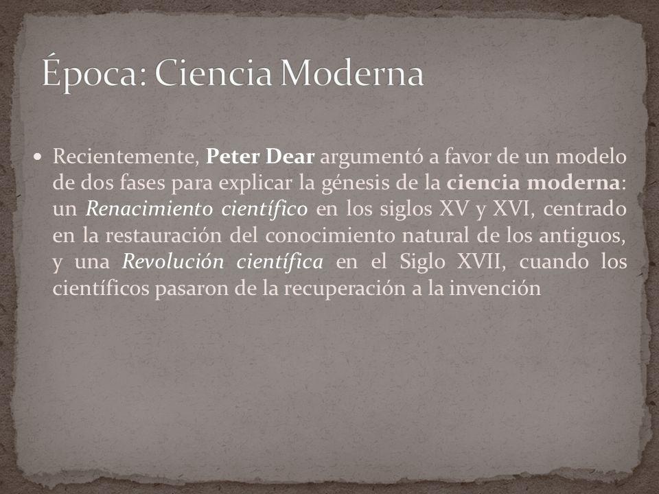 Época: Ciencia Moderna