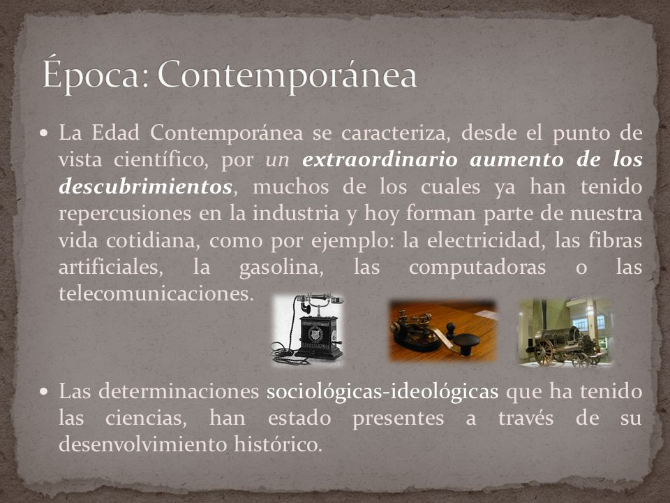 Época: Contemporánea