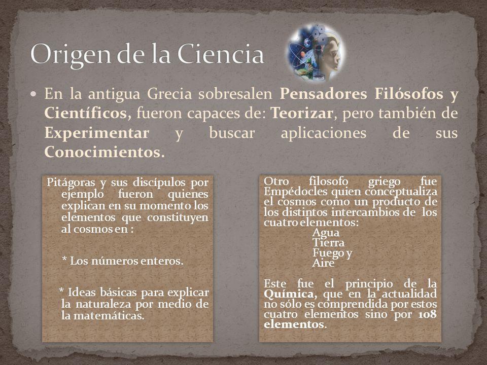 Origen de la Ciencia