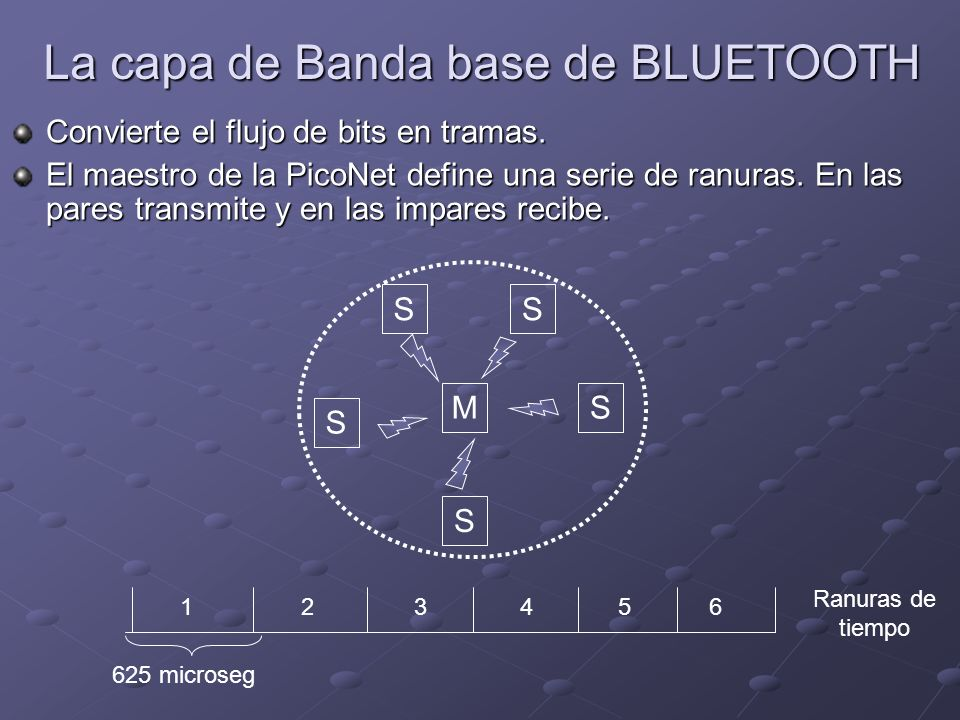 La capa de Banda base de BLUETOOTH