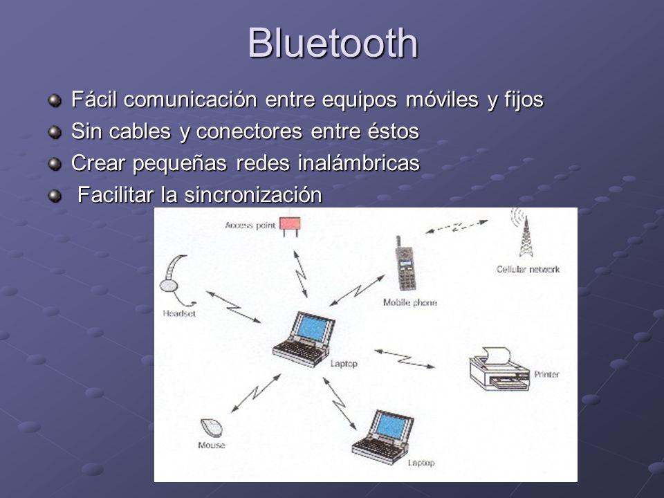 Bluetooth Fácil comunicación entre equipos móviles y fijos