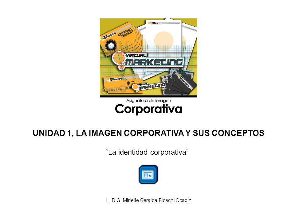 UNIDAD 1, LA IMAGEN CORPORATIVA Y SUS CONCEPTOS