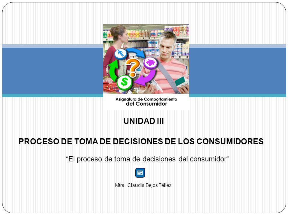 PROCESO DE TOMA DE DECISIONES DE LOS CONSUMIDORES