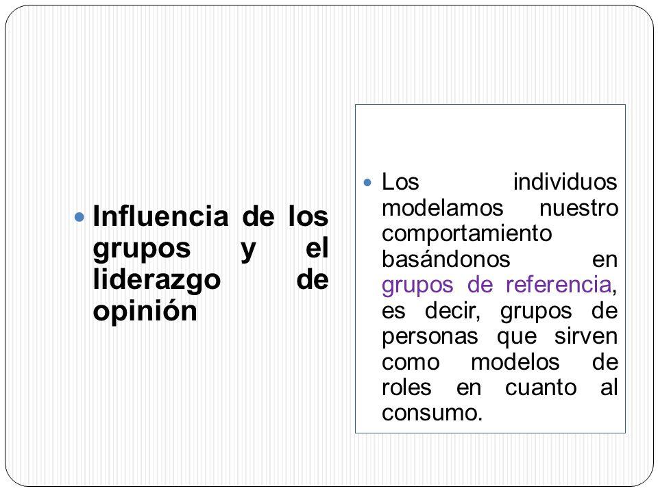 Influencia de los grupos y el liderazgo de opinión