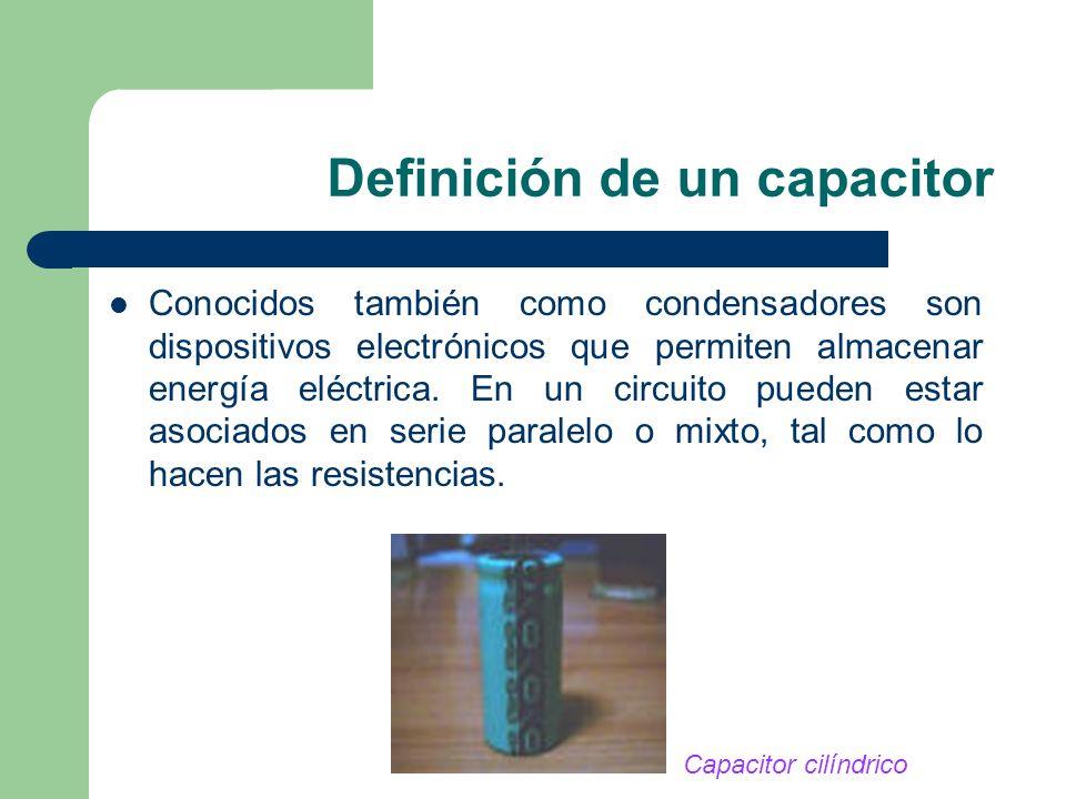 Definición de un capacitor