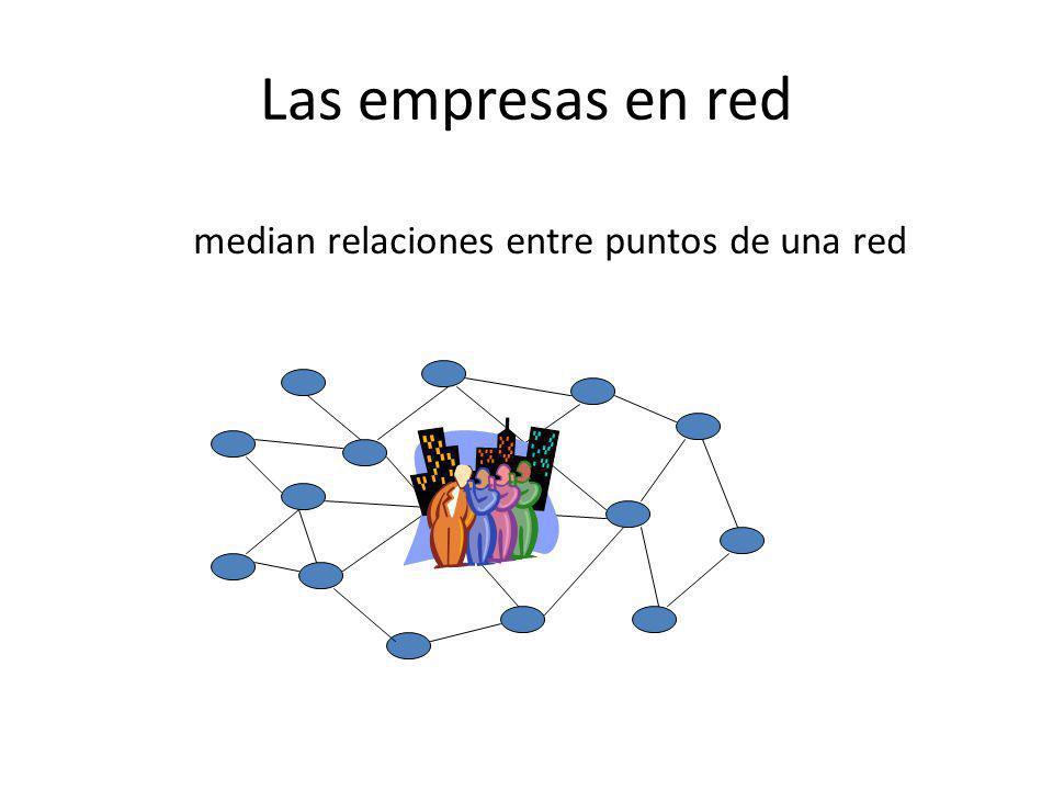 Las empresas en red median relaciones entre puntos de una red