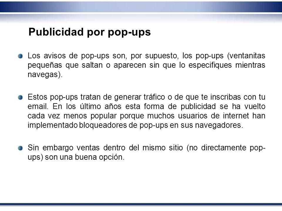 Publicidad por pop-ups