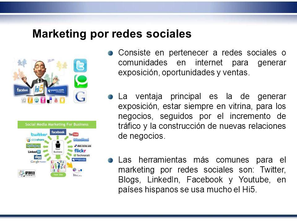 Marketing por redes sociales