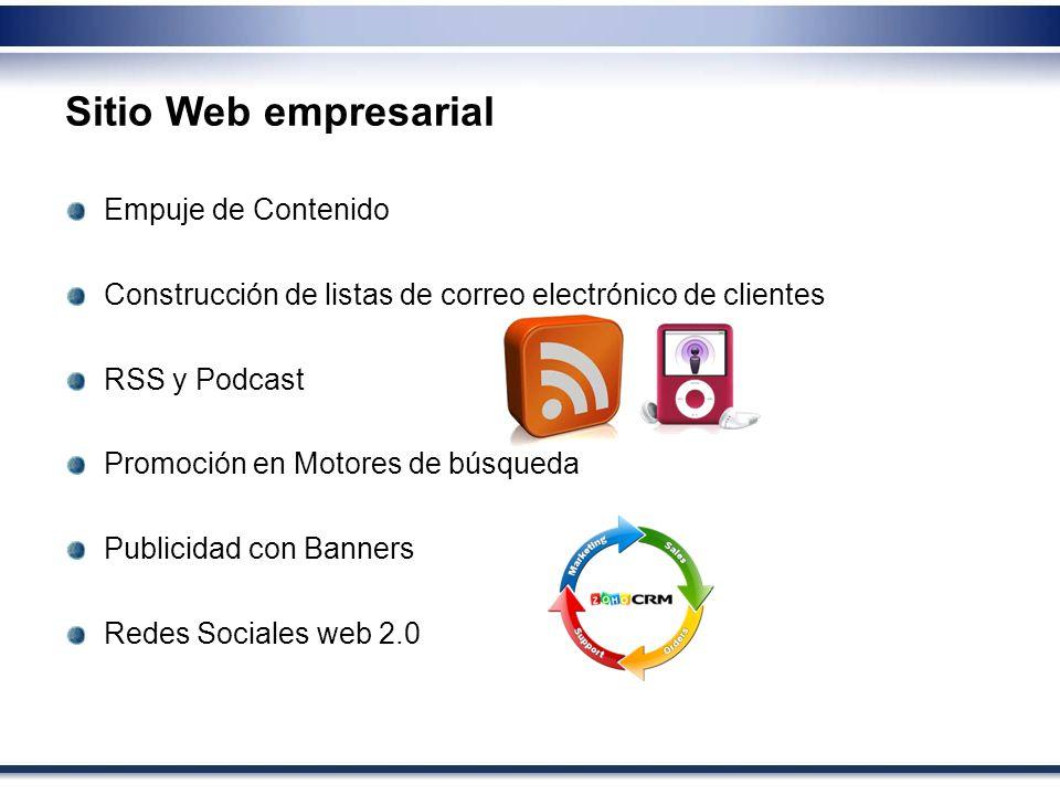 Sitio Web empresarial Empuje de Contenido