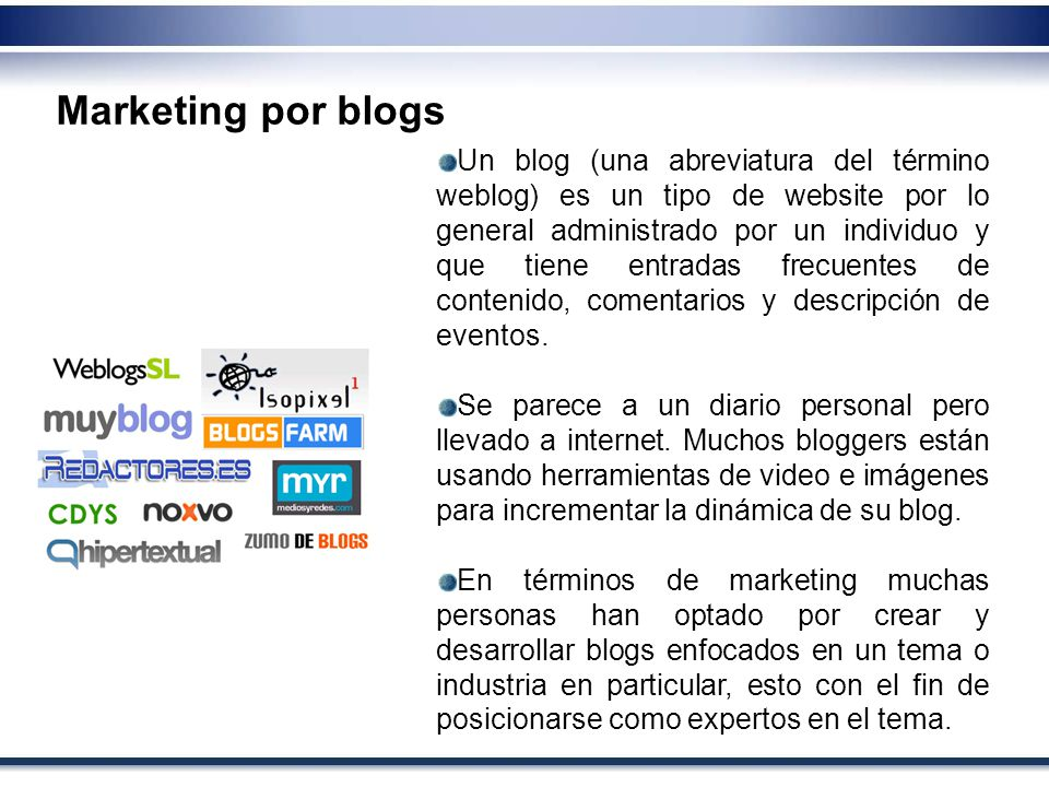 Marketing por blogs