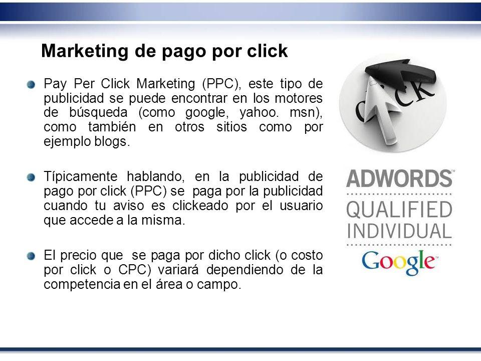 Marketing de pago por click