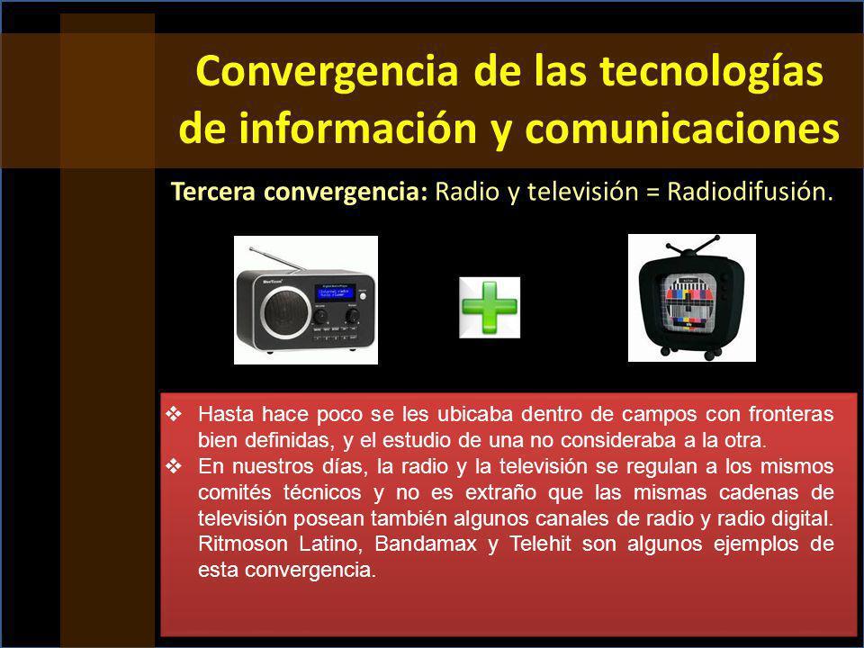 Convergencia de las tecnologías de información y comunicaciones
