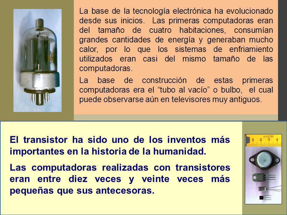 La base de la tecnología electrónica ha evolucionado desde sus inicios