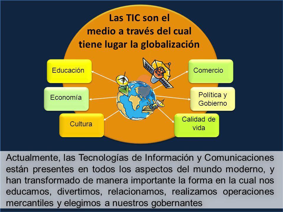 Las TIC son el medio a través del cual tiene lugar la globalización