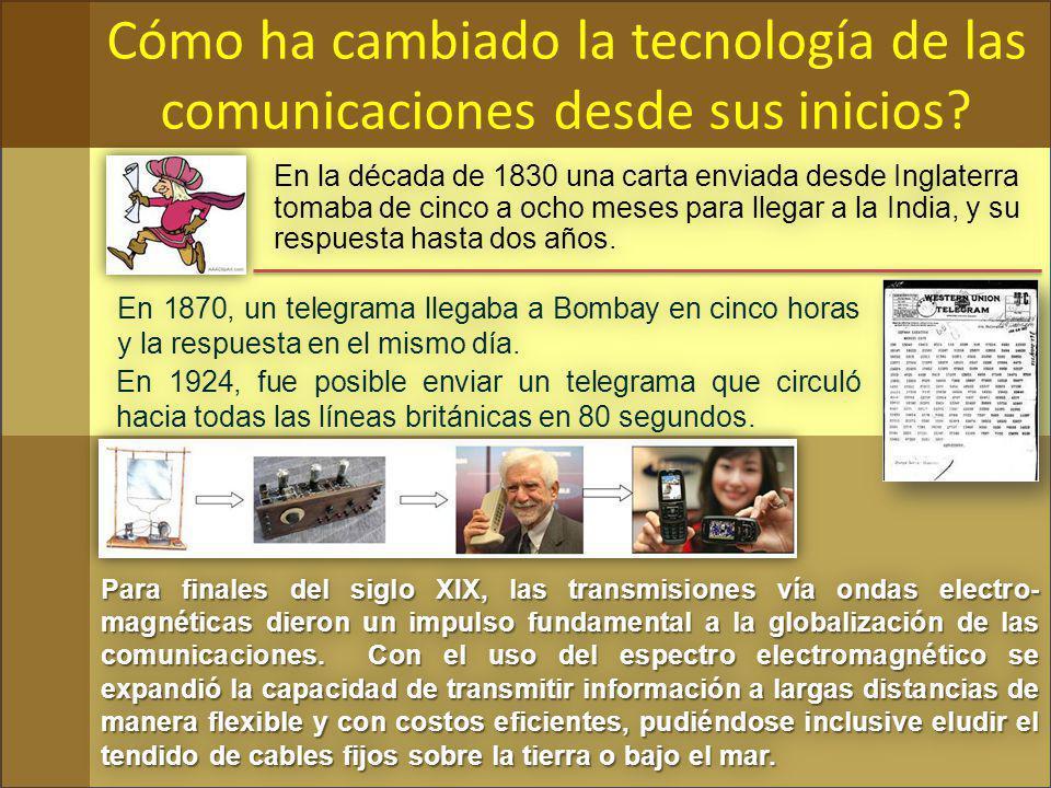 Cómo ha cambiado la tecnología de las comunicaciones desde sus inicios