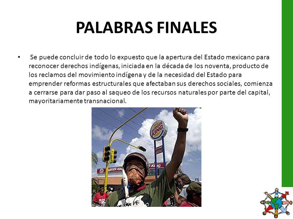 PALABRAS FINALES
