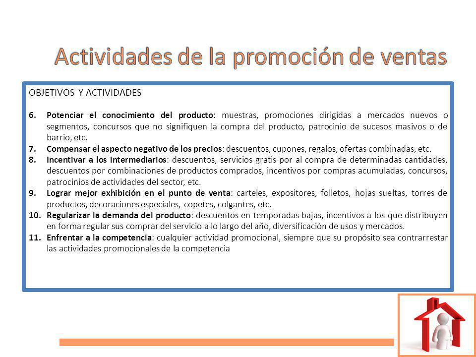 Actividades de la promoción de ventas