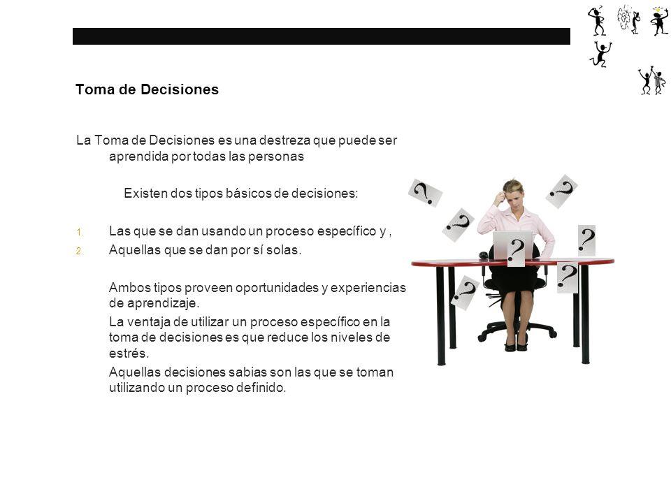 Existen dos tipos básicos de decisiones: