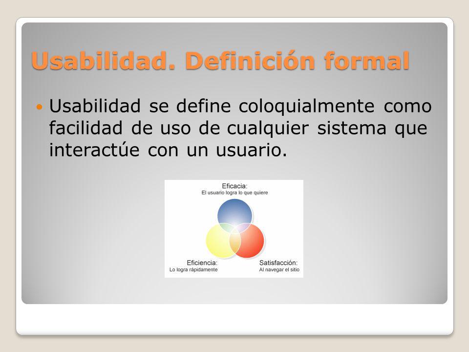 Usabilidad. Definición formal
