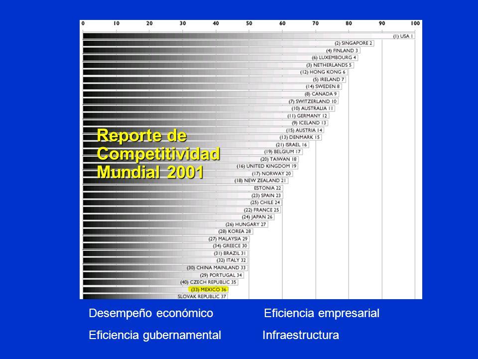 Reporte de Competitividad Mundial 2001
