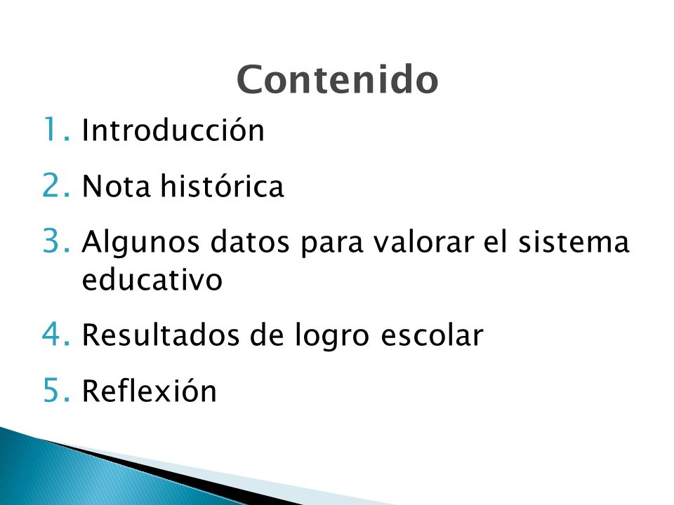 Contenido Introducción Nota histórica