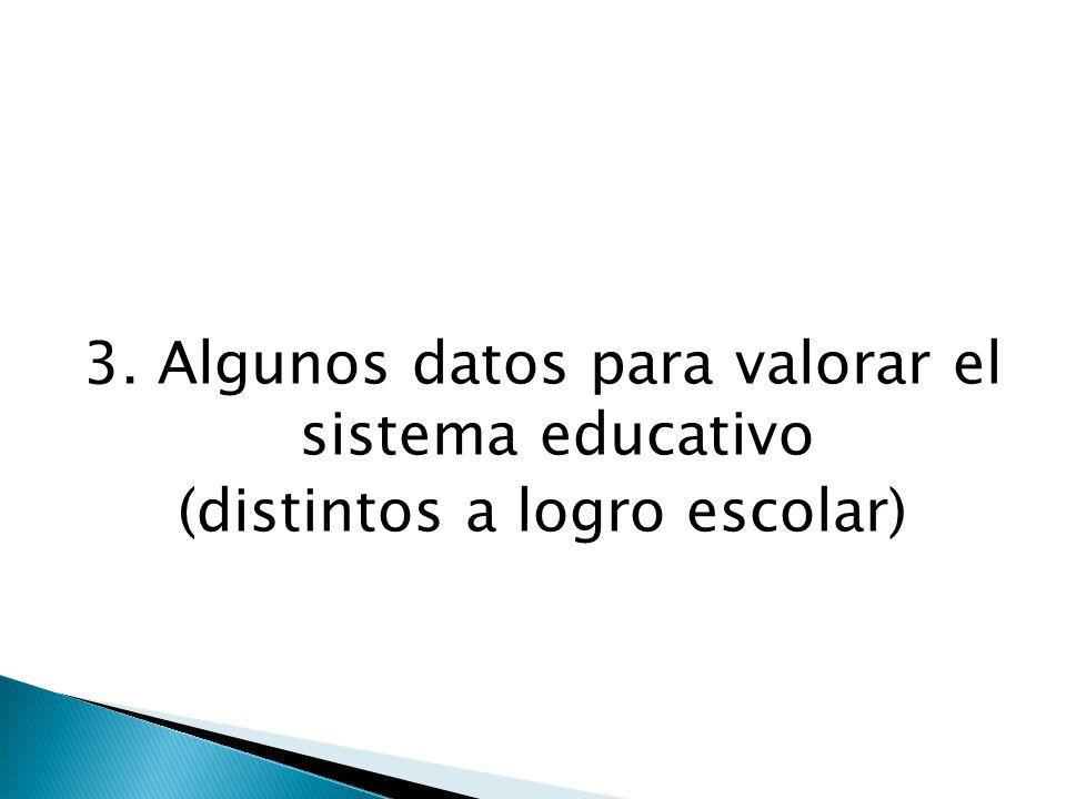 3. Algunos datos para valorar el sistema educativo