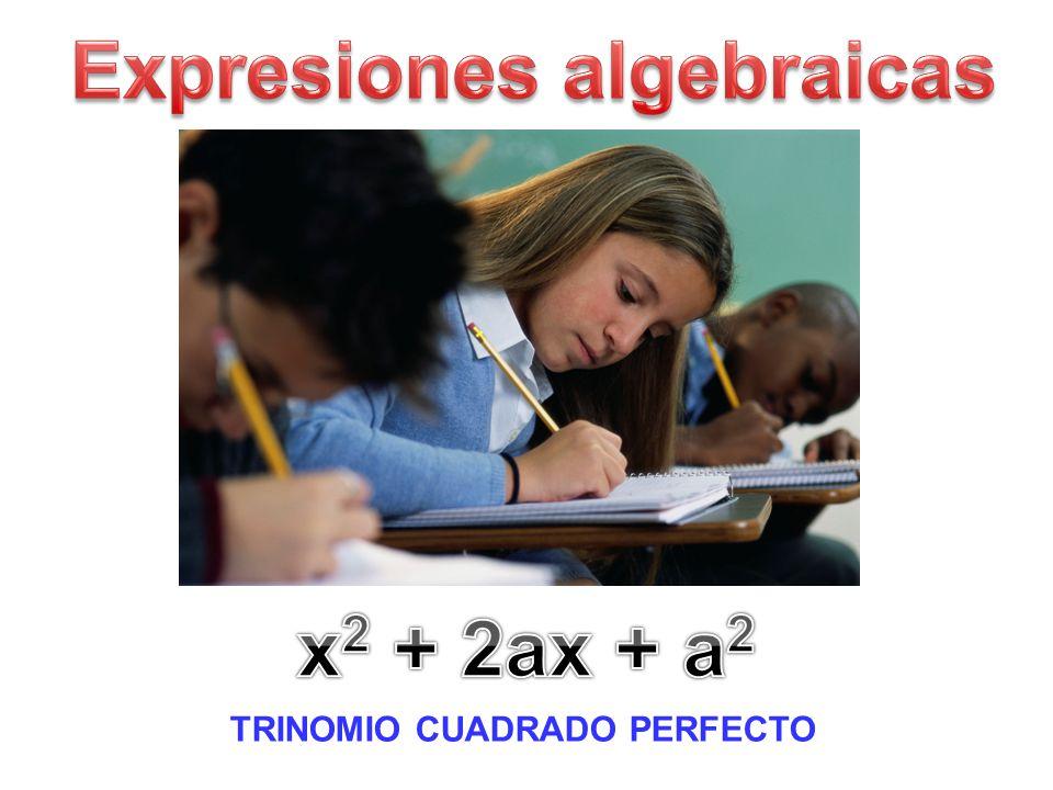 Expresiones algebraicas TRINOMIO CUADRADO PERFECTO