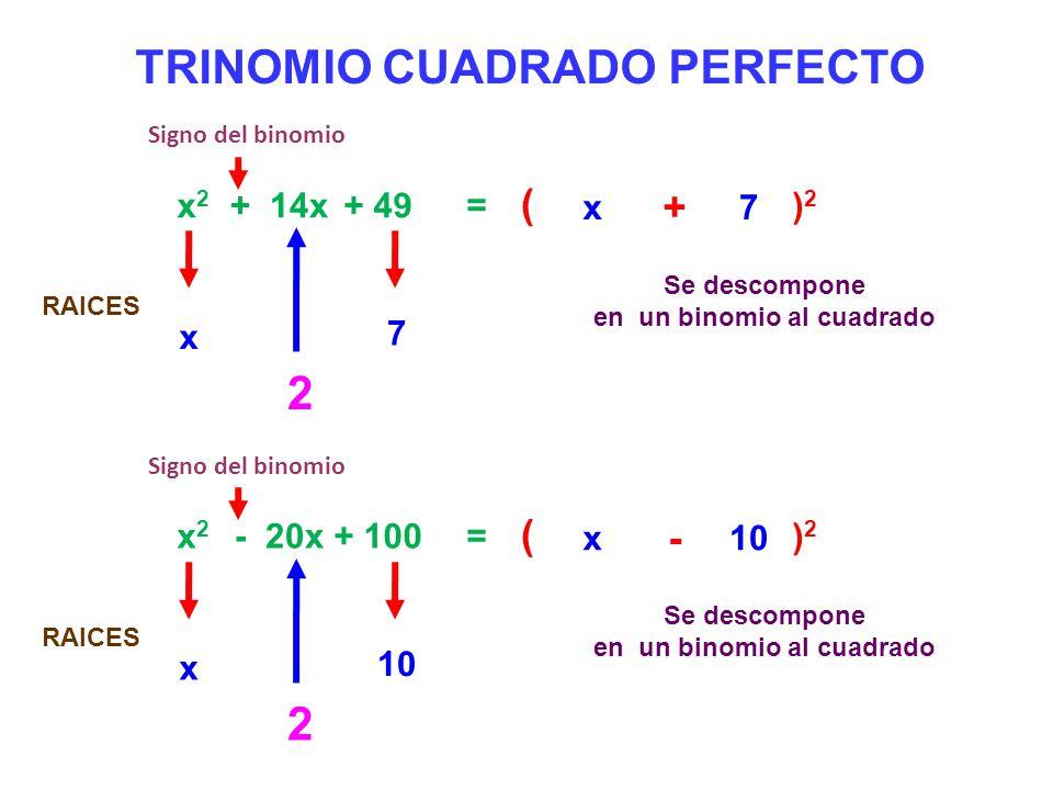 TRINOMIO CUADRADO PERFECTO 2 2