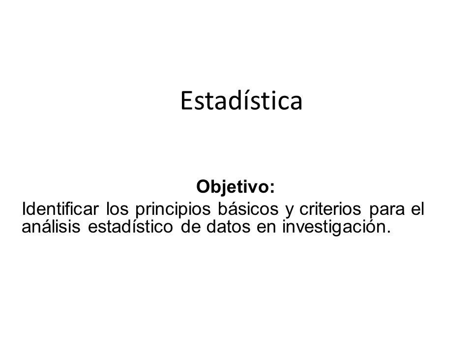 Estadística Objetivo: