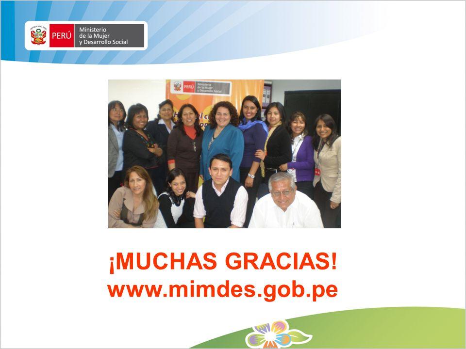 ¡MUCHAS GRACIAS! www.mimdes.gob.pe