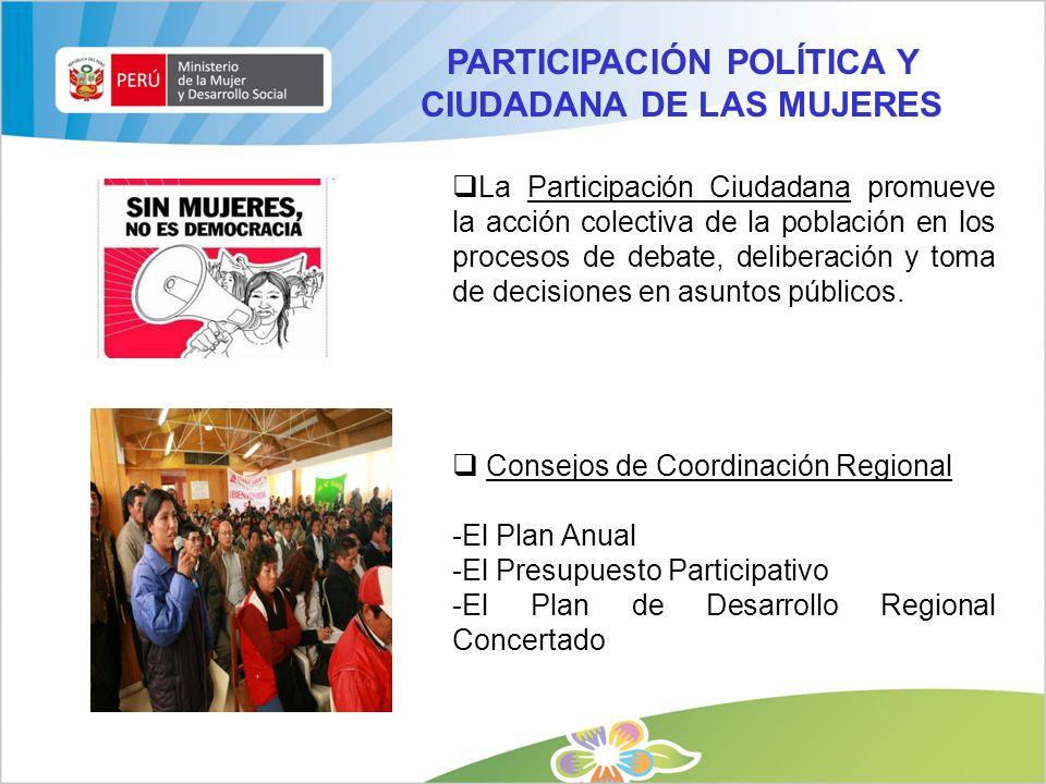 PARTICIPACIÓN POLÍTICA Y CIUDADANA DE LAS MUJERES