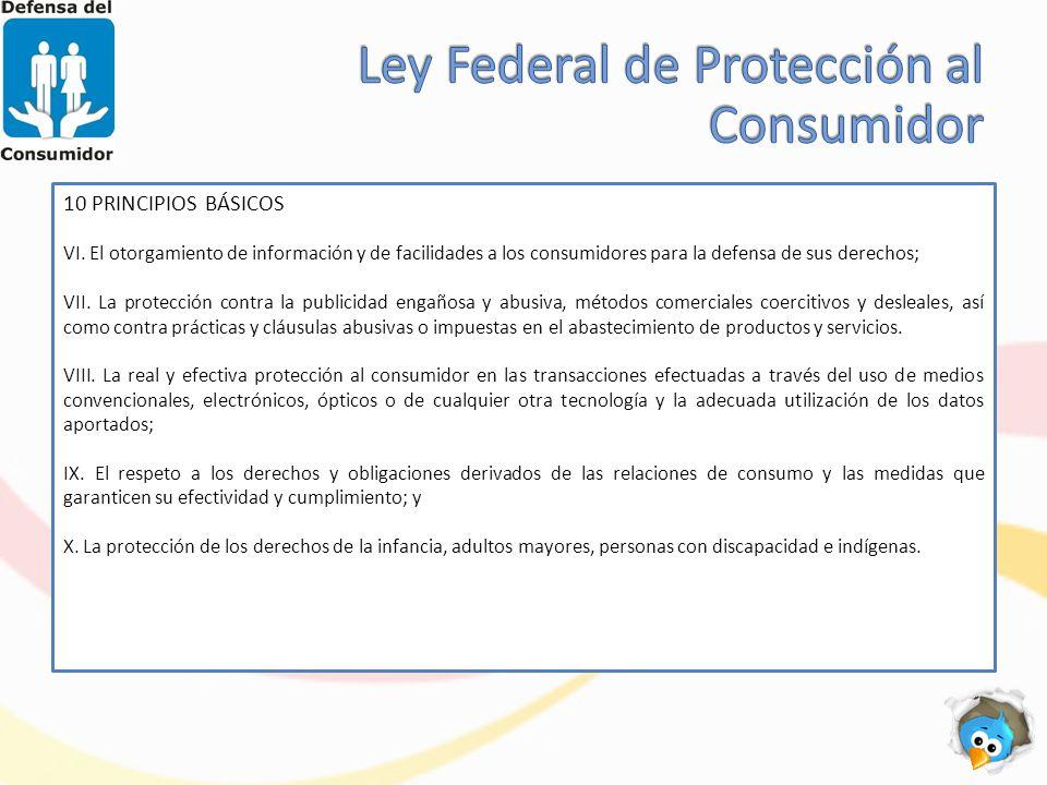 Ley Federal de Protección al Consumidor